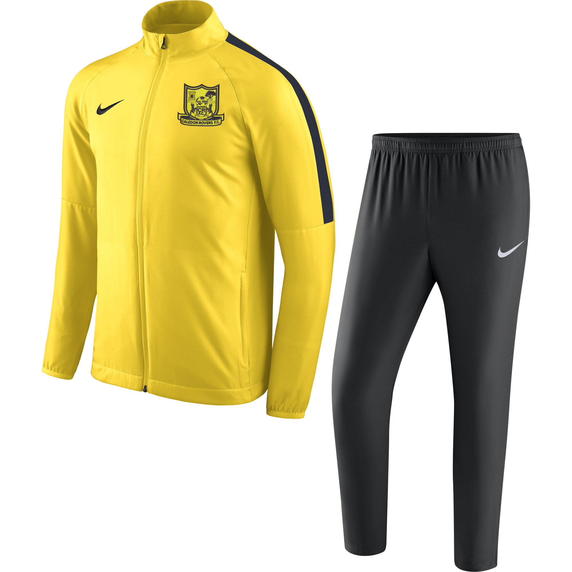 caledon rovers fc academy tracksuit yellow 35779 p