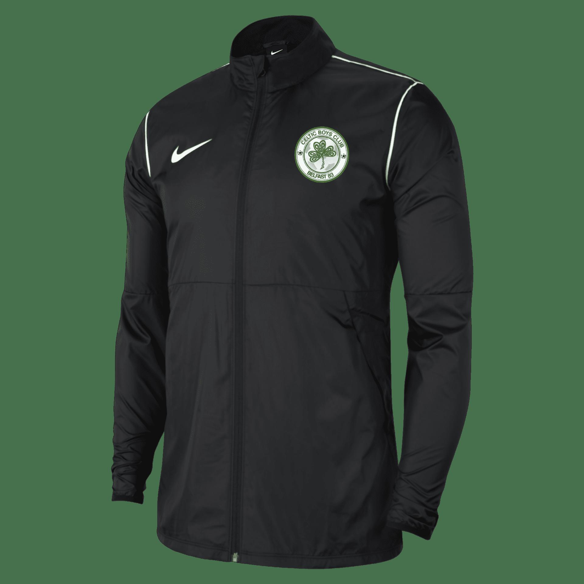 celtic boys park rain jacket black  33316 p