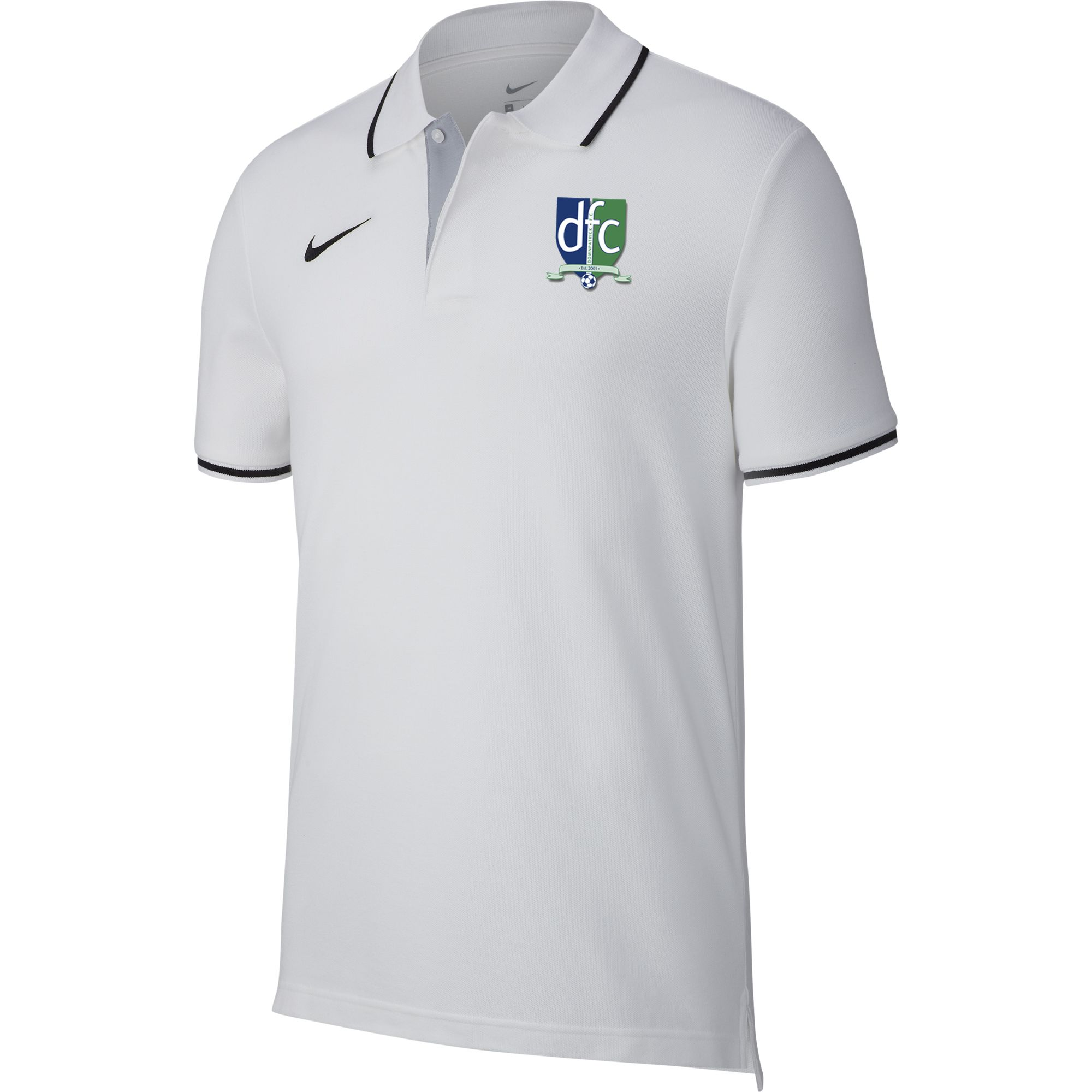 downpatrick fc core polo white  14021 p