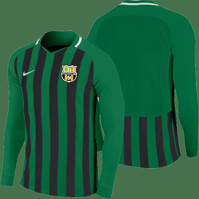 knocktonagh fc striped division jersey green black 35372 p