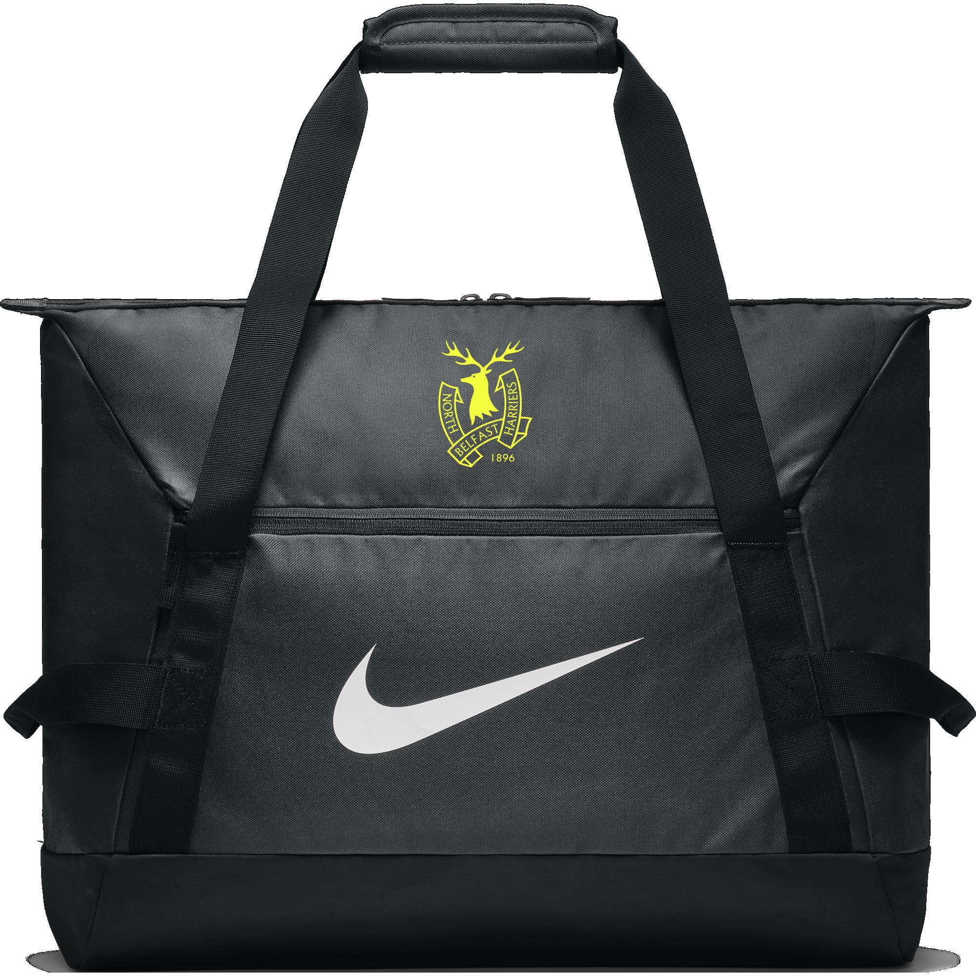 north belfast harriers black nike duffel bag  25098 p