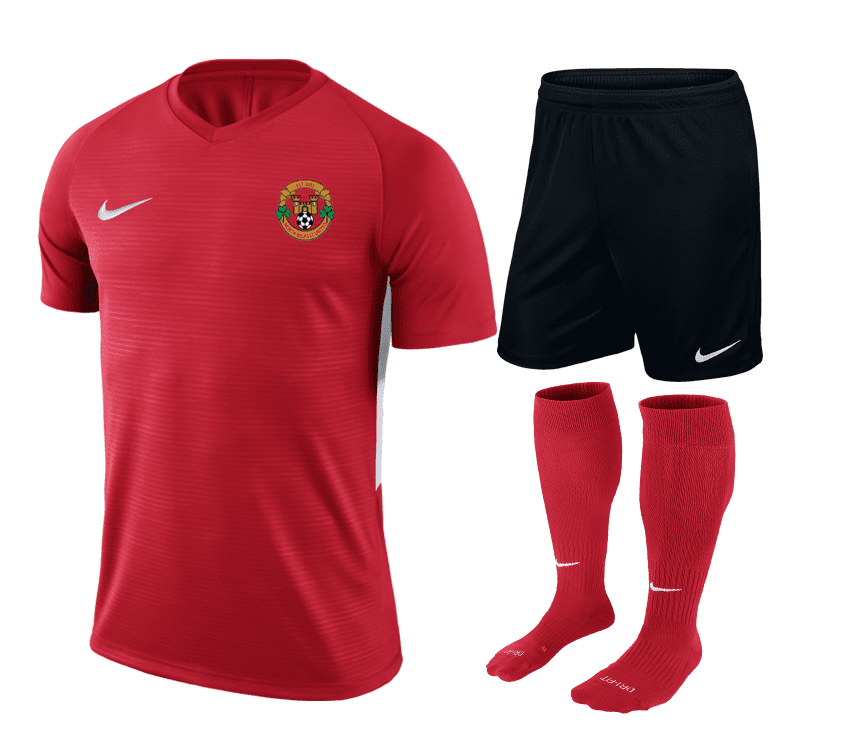 north belfast united home kit red  34050 p