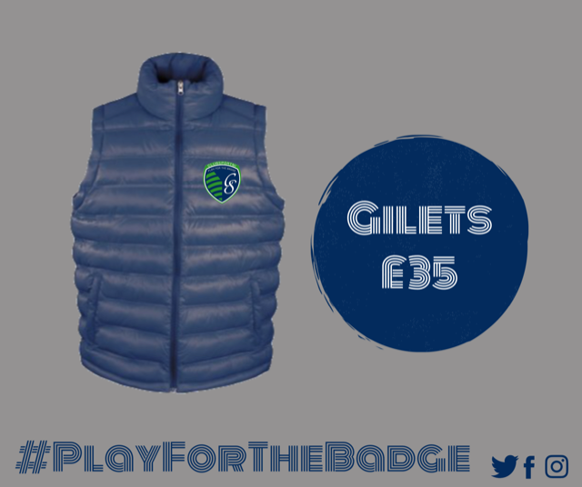 padded gilet with club badge  2  37422 p