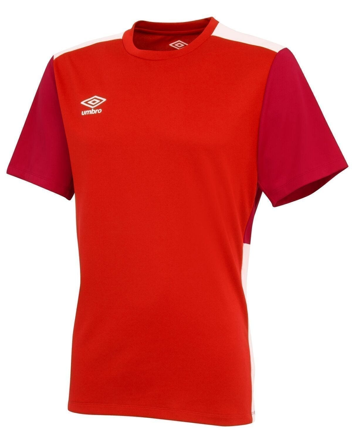 training poly tee red 30422 p