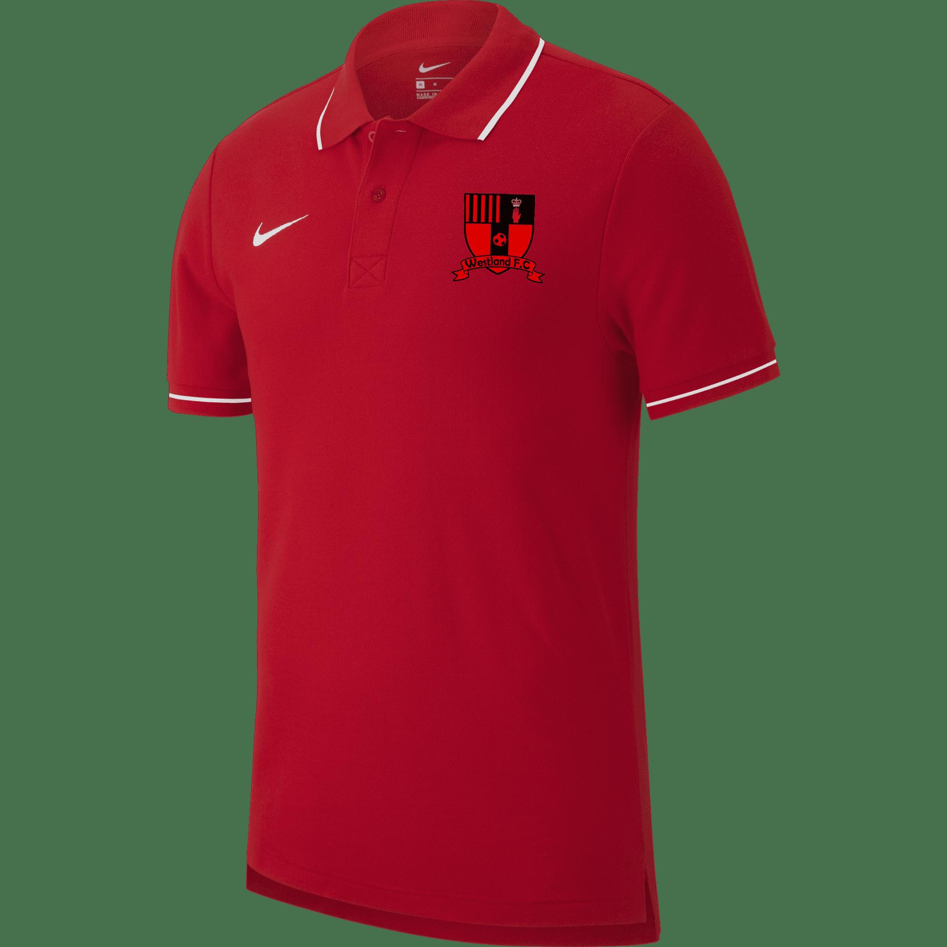 westland fc club 19 polo red  size xxl mens 34933 p