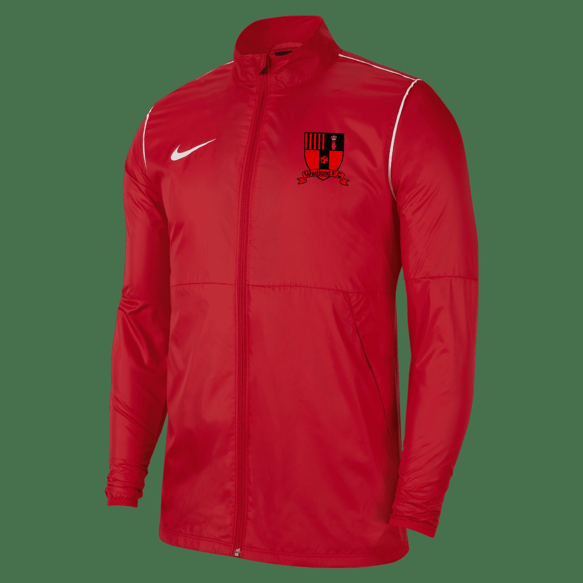 westland fc park rain jacket red  34974 p